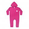 macacao bebe de moletom abertura de ziper cachorro pink kappes