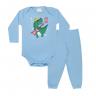 conjunto bebe body e calca pagao envelope dinossauro azul kappes