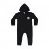 macacao bebe de moletom abertura de ziper urso preto kappes