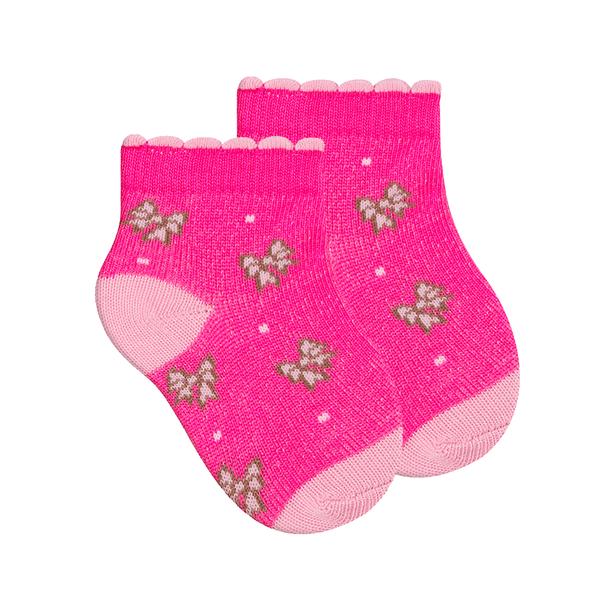 meias fun socks de laco pink winston