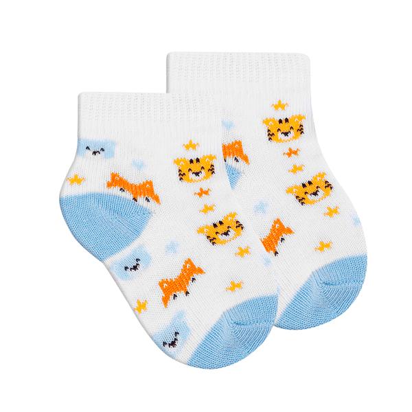 meias fun socks de raposa azul winston