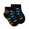 meias fun socks de trenzinho preto winston