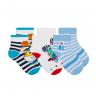 kit 3 meias fun socks dinossauro azul winston 2
