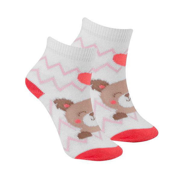 meias fun socks urso salmao winston