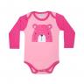 body bebe pagao envelope urso pink e rosa dino kids
