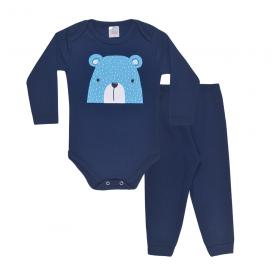 conjunto bebe body e calca pagao envelope urso marinho dino kids