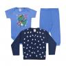 kit body bebe 3 pecas pagao dinossauro royal e marinho vestir com amor