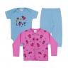 kit body bebe 3 pecas pagao joaninha azul e chiclete vestir com amor