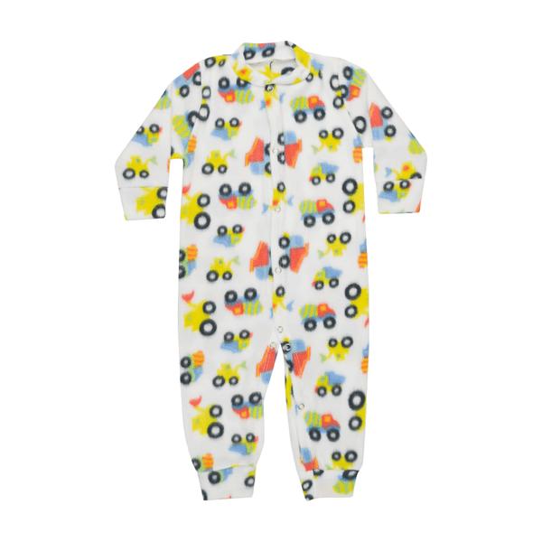 macacao bebe de soft carros amarelo kiiwi