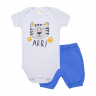 conjunto bebe body e shorts pagao tigre royal dino kids