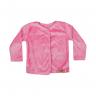 casaco bebe de plush rosa c canaa