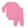 conjunto bebe body e calca pagao energy up rosa vestir com amor