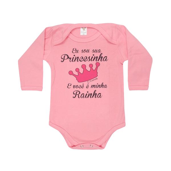 body bebe avulso de ribana princesa rosa c canaa