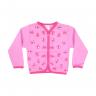 cardiga de moletom peluciado cachorro rosa vestir com am