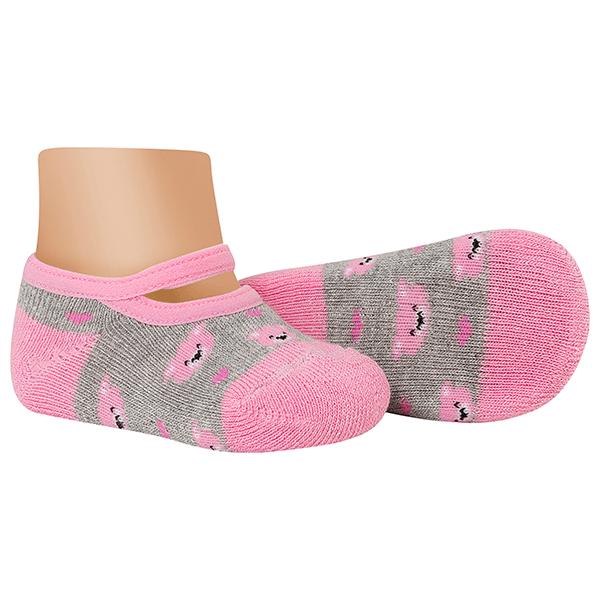 meias fun socks sapatilha bebe urso rosa winston