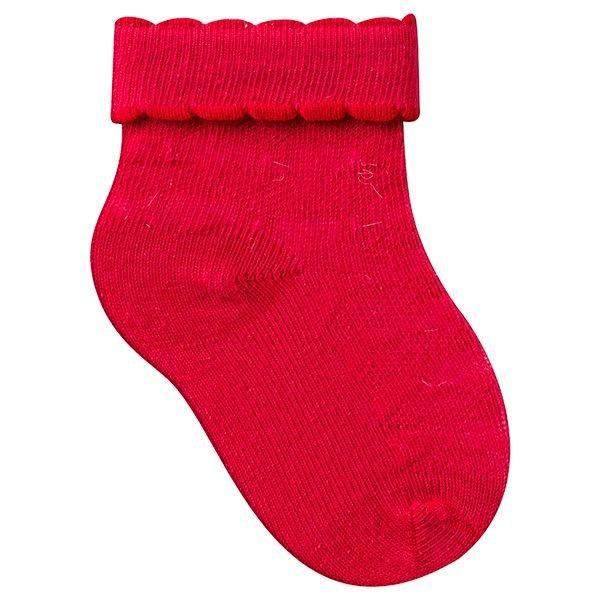 meias fun socks com punho dobrado vermelho winston