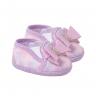 tenis bebe feminino com laco lilas keto baby