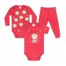 kit body bebe 3 pecas pagao urso vermelho vestir com amor