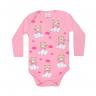 body bebe pagao manga longa urso balao rosa vestir com amor