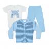 kit body bebe 3 pecas pagao urso azul dino kids