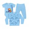 kit body bebe 3 pecas pagao urso montanha azul dino kids