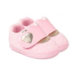 tenis bebe coracao rosa feminino keto baby