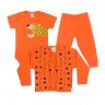 kit body bebe 3 pecas pagao roar laranja dino kids