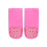 meias fun socks com pelucia de urso rosa nicecotton