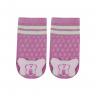 meias fun socks com pelucia de borboleta rosa nicecotton