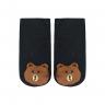 meias fun socks com pelucia de urso preto nicecotton