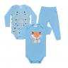 kit body bebe 3 pecas pagao raposa azul vestir com amor
