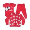 kit body bebe 3 pecas pagao panda vermelho dino kids