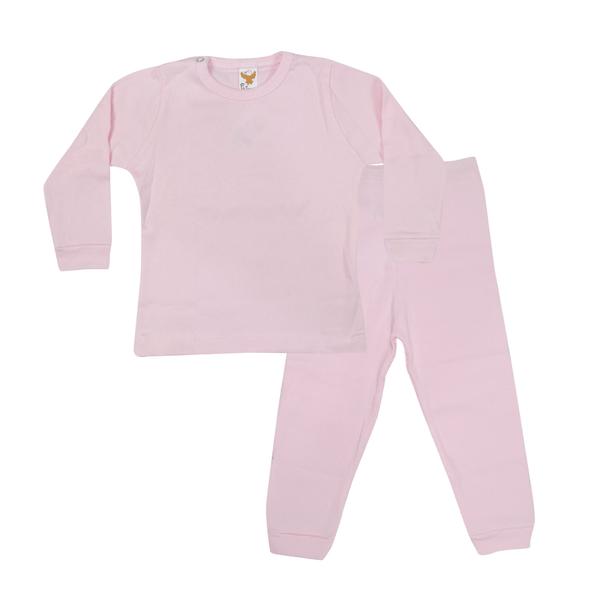 conjunto bebe blusa e calca rosa c canaa