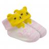 meias fun socks com orelinhas de urso rosa baby socks 2