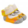 meias fun socks com orelinhas de urso laranja baby socks