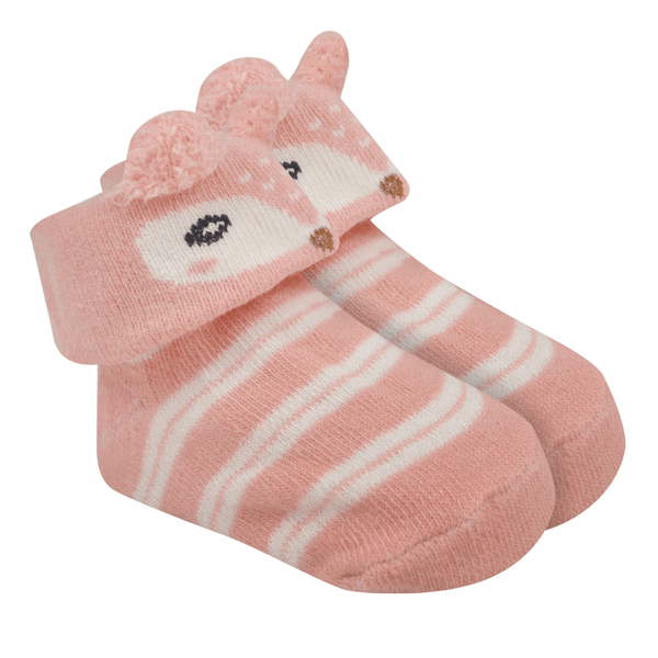 meias fun socks com orelinhas de raposa rosa baby socks
