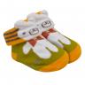 meias fun socks com orelinhas de urso mostarda baby socks