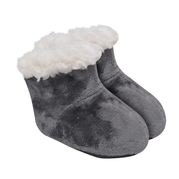 bota bebe unissex chumbo peluciada e forrada baby socks
