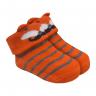 meias fun socks com orelinhas de raposa mostarda baby socks