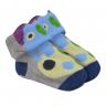 meias fun socks com orelinhas de monstrinho mescla baby socks