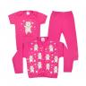 kit infantil 3 pecas pagao urso coracao pink vestir com amor