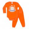 conjunto bebe body e calca pagao envelope urso laranja dino kids 1