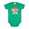 body bebe raposa verde e mescla vestir com amor