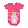 body urso cachecol pink e chiclete dino kids