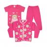 kit body bebe 3 pecas pagao urso cachecol pink e chiclete dino kids