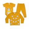 kit body bebe 3 pecas pagao urso cachecol mostarda dino kids
