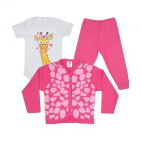 kit body bebe 3 pecas pagao girafa chiclete dino kids