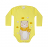 body bebe urso cachecol amarelo lmol baby
