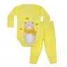 conjunto bebe body e calca pagao envelope urso cachecol amarelo lmol baby