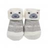 meias fun socks com orelinhas de urso cinza baby socks 2